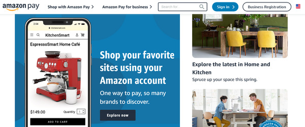 Amazon Pay payment gateway